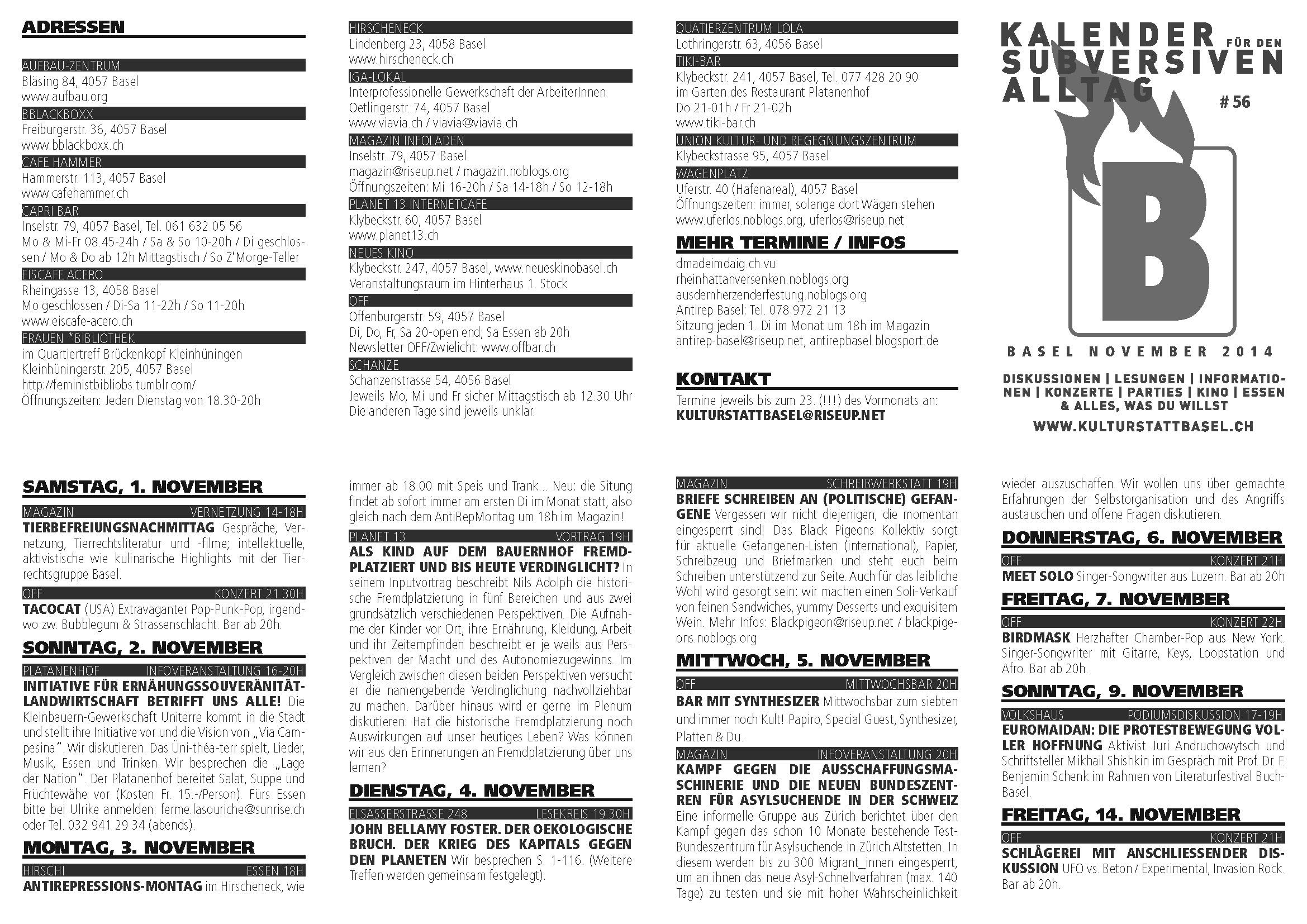 B: Kalender für den subversiven Alltag: Page 2